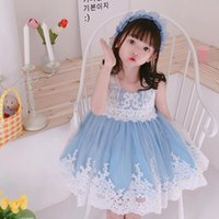 Vestidos de niña Cekcya bebé niña española lolita princesa niños encaje pavo vintage bola vestido infantil fiesta de cumpleaños bule gzb011