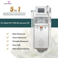 2021 Multifunctional q-switched nd yag laser ipl elight opt shr rf 5 In 1 portable machine spot mole wart tattoo remover skin rejuvenation