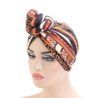 Новая верхняя завязанная индийская шляпа ретро мода шляпа африканская печать вечеринка тюрбан химиотерапия шапка рака шарф
