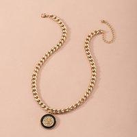 Münze Schlüsselbein Kette Mode All Match Lion Head Email Glaze Weibliche Halskette Für Frauen Party Schmuck Geschenk