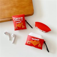 3D Cute Cartoon Potato Chips Snacks Anti-fall Headset Protective Cases Soft Siicone For Apple Airpods 1 2 Pro Bluetooth Earphone Cover Case