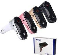سيارة C8 كيت شاحن USB محول FM Transmente Hands Free LCD مشغل MP3 مشغل موسيقى FM الارسال مع حزمة البيع بالتجزئة