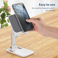 Cell Phone Mounts & Holders Mini Metal Mobile Holder Foldable Desktop Portable Universal Easy Office Eye Stand For All Smart