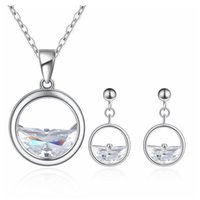 Zircon Necklace Earrings Jewelry Sets Girls And Women's Gifts Leisure Accessories * &