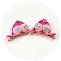 Fashion bébé coiffure Multi Design Bunny oreille chat oreilles arc motif chapeau de chapeau de chapeau bébé fille fille paillettes décoration accessoires 1 2YD l2