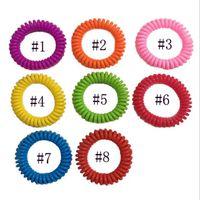 Москитные репеллентные браслеты Braclets антимоскито чистые природные взрослые и дети запястья, смешанные цвета вредителя управления jja101