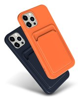 Venda por atacado para iPhone 12 pro max phone cases x 8 7 6 mais silicone líquido capa móvel caso cartão slot soft tpu