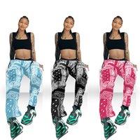 Donne Paisley Bandanna Stampa Jogger SweatPant Vintage Viaio Alta Gestito Allenamento Pantaloni Attivo Attive Abbigliamento Sportswear BAGGY Pantalone