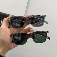 Солнцезащитные очки Небольшая коробка Женский Модный Ретро Корейский Мужской Круглый Лицо Net Красные Тонкими Очки