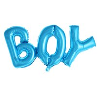 Party Decorations Boy Girl Aluminium Foil Balloons Decor Baby Shower Birthday Kids Gender Reveal Balloon Colorful Letters Shaped DDA5534