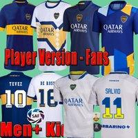 Boca Juniors Soccer Jersey 2021 2022 Carlitos Maradona Tevez de Rossi 21 22 Sports Voetbal Shirt Mannen + Kids Kit Sets Uniformen Home Away Third 3rd