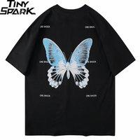 T-shirt oversize Hip Hop Uomini Streetwear Tshirt Butterfly Stampa Harajuku Summer Summer T-shirt manica corta T-shirt Top in cotone Tops allentati 210329
