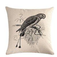 Cushion Decorative Pillow Black White Birds Cushion Covers Animal Throw Case For Home Chair Sofa Decoration Square Pillowcases 2021 Decor