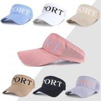 Free DHL Summer Cotton Sports Caps Visors Letter Fashion Women Men Sun Visor Beanie Hats Adjustable Snapback Unisex