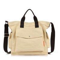 HBP Women Handbag Purse Ladies Tote Bag Large Size Package Canvas Shopping Bag Plain Style Wide Shoulder Strap Free Shipping5GF6