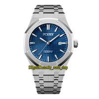 Pladen Eternity V325 الترفيه Ultrathin Th 10mm Mens Watches Grid نمط الأزرق تاريخ الطلب الكوارتز حركة الرجال ووتش الصلب حالة فضية سوار