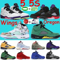 2021 5 5s sapatos de basquete ilha verde branco stealth top 3 whites metálicos pretos 23 treinadores fogo vermelho prata língua homens sapatilhas