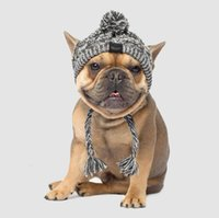 Pet Style Hot New Headgear Autumn and Winter Fur Ball Keep Warm Windproof Fluffy Knitting Method Dog Fighting Hat Gd939