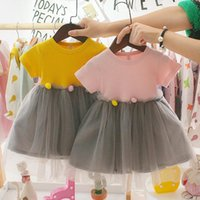 Girl's Dresses Baby Girl Clothes Summer Dress Toddler Kids Girls Patchwork Tulle Casual Princess Infants Clothing