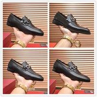2021 Luxury F Menúrgicos para hombre París Cuero genuino Gommino Slip en Walk Zapatos de boda Vestido de negocios Classics Shoes Tamaño 38-46