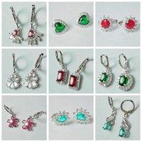 Hoop & Huggie Romantic Heart Fine Earrings 2021 Trend Gold Cutting Zircon Earings Water Drop Square Crystal Jewelry