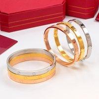 2021 aço inoxidável amor pulseira de corpo duro pulseiras de prata rosa ouro pulseira mulheres homens parafuso chave de fenda casal jóias com saco original