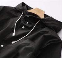 비옷 남성 여성 방수 후드 성인 EVA 코트 Poncho 새로운 검은 색 패션 소년 소녀 여행 낚시 등반 사이클링 사이클링 1820 v2