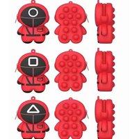 Bläckfisk spel handväska silikon push bubbla mynt sensory leksak vuxen barn rolig anti-stress fidget reliver stress leksaker liten 6 * 8,6 * 3,5 cm nyckelring mynt purses väska