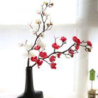 Decorative Flowers & Wreaths Fake Silk Plum Flower Small Berries Artificial Stamens Cherry Blossom Home Decoration Wedding Diy Wreath Gift