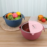 Kitchen Accessories Grater Set Stainless Steel Wash Basin Colander Strainer Mixing Bowl Fruit & Vegetable For Home Cooking