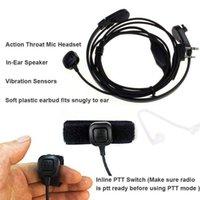 Outras ferramentas de veículos da garganta microfone fone de ouvido fone de ouvido Pfor Baofeng Uv5r 888s Radio Walkie Talkie