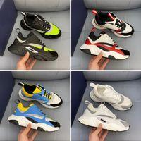 2021 Tecnologia Casual Sapatos Tecnologia Cinzento Designer B22 Sneakers Branco Couro Calfskin Sapatos Casuais Top Técnico Malhas Homens Mulheres Plataforma Multicolor Treinadores Multicolor 38-44