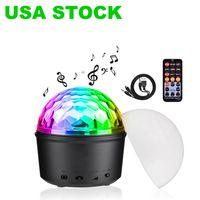 LED-effekter Bluetooth Speaker Strobe Party Lights, USB Powered Night Lamp, 9 färger Ljud Aktiverad scenlampa med fjärrkontroll för barn Sovrum Julklapp