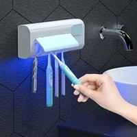 دروبشيب uv فرشاة الأسنان المطهر تعقيم التعقيم مناسبة للمنزل جميع أنواع فرشاة الأسنان معقم 19.5 * 4 * 7.5 سنتيمتر