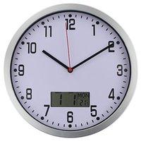 -Timelike Klasik Sıcaklık Ekran Duvar Saati Modern Dijital Plasitc Kuvars Horloge Retro Relogio de Parede Saatler