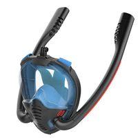 Masque de plongée adulte Scuba Double Snorkel Full Visage complet Anti-Fog K3 Masque de plongée en apnée Kid Natation Matériel de plongée sous-marin de plongée
