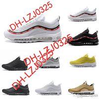 2021 97 الثلاثي الأحذية البيضاء المعدنية الذهب والفضة رصاصة الوردي رجالي مدرب المرأة الرياضة أحذية رياضية حجم DH-X9 ABN81