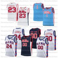 مخصص OLE Miss المتمردين كلية كرة السلة الفانيلة 3 Khadim SY 4 Breein Tyree 2 Devontae Shuler 0 Blake Hinson 5 KJ Buff