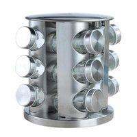 Storage Bottles & Jars Seasoning Set Rotating Cruet Condiment For Spices Pepper Sprays Holder Kitchen Rack Organizer Household