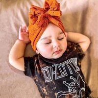 Lovely Flower Bowknot Baby Hats Solid Color Hollow Out Turban Hat Infant Cap Bonnet Headwraps Toddler Kids Hat Beanie
