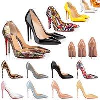 2021 Kırmızı Alt Topuklu Ayakkabı Moda Kadın Hakiki Deri Elbise Peep-toes Sandalet Yüksek Topuk Platformu Tasarımcı Sivri Burun Pompalar Loafer'lar Kauçuk 35-42