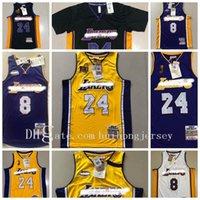 NCAA 2021 Novo Autêntico Mitchell Ness Los AngelesLakerskobebryant60th824men Swingman Jerseys de basquete