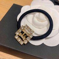Net red new rubber band H letter diamond headband female dongdamen rope high elastic hair ring