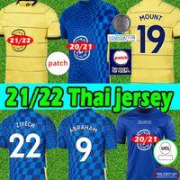 21/22 CFC 축구 유니폼 4th Havertz Kante Werner Pulisic Ziyech Jersey Abraham Mount 2021 2022 홈 멀리 남성 키트 + 키즈 키트 축구 셔츠