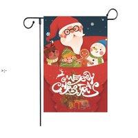Navidad colgante de jardín bandera de santa claus dibujos animados banderas al aire libre jardines decoración navidad árbol festival fiesta decoración banner CCB10629