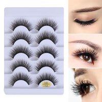 False Eyelashes Makeup Tools Natural Long Multi-styles Wispy Flared Criss-cross Eye Lash Extension 3D Faux Mink Hair