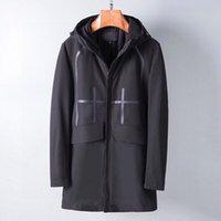 2021 erkek ceket ilkbahar ve sonbahar uzun iş rüzgarlık fermuar süper su geçirmez jacke ceket açık Avrupa erkekler M-3XL