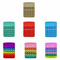 Fidget Rainbow Calculadora de estrés DiscomPresión Toy Cálculo matemático Ejercicio Habilidad lógica: alivio del estrés Juego interactivo