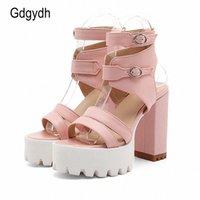 Ggydh hot sales 2017 zomer gladiator vrouwen sandalen sexy hoge hakken uitsnijdingen vrouwelijke sandalen open teen platform dames schoenen sparx sandalen blauwe schoenen K08V #