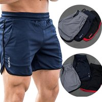 Gym Clothing Muscle Fitness Brothers Sports Shorts Men's Summer Mesh Quick Drying Casual Running Beach Pants Trainning Exercise